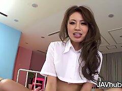 JAVHUB japanese babe Hana Yoshida railing a rock hard cock