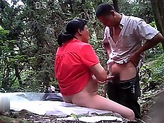 Chubby Mature Asian Prostitute Doing Outdoor Bareback