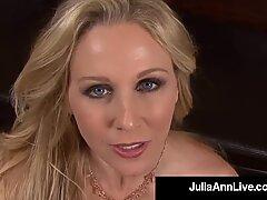 POV With Your Cock Julia Ann Sucks & Milks Your Blue Balls!