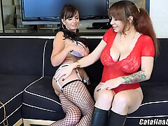 Catalina Cruz and Alyssa Lynn have some giant udders live webcam