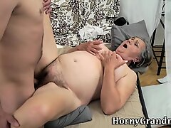 Hairy cunt grandmother