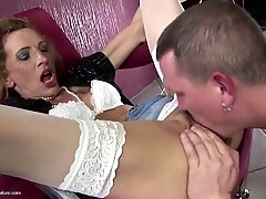 Hot mature mother boned in all crevices her toy boy