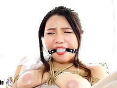 chinese restrain bondage with hitachi 4