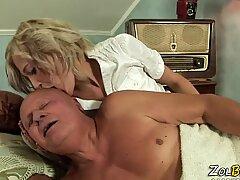 Mature blonde slut pisses
