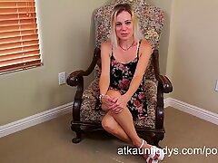 milf Pauline interviews and jacks
