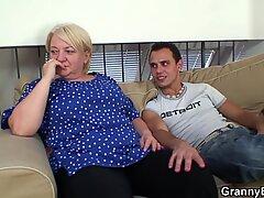 blonde grandma spreads legs for a stranger