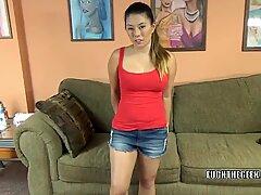 Exotic hottie Nikko Jordan is deep-throating a dude she just met
