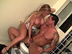 Cute and awesome babe Nikki Delano falls for brutal Dick Delaware