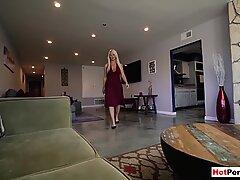 Blonde mature stepmother asks stepson for forgiveness