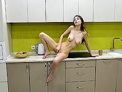 Naked Girl In Kitchen - Mila Azul