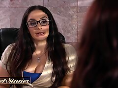 Sweet Sinner - Blindfolded Therapist Aidra Fox gets kinky with some BBC