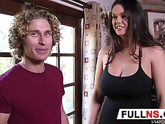 Busty Why Gets Young Cock