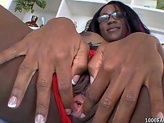 Hot Ebony babe Persia Black gets sticky cum facial