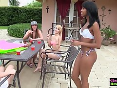 Party teen pussy pounded